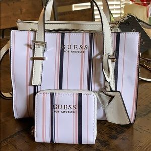 Matching guess satchel and wallet